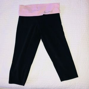 PINK Victoria's Secret Pants - VS PINK Cropped Black Leggings